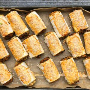 Sweet Potato & Lentil Sausage Rolls