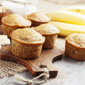 Banana Muffins (Dairy Free)