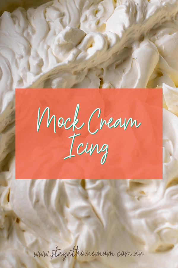 Mock Cream Icing | Stay at Home Mum.com.au