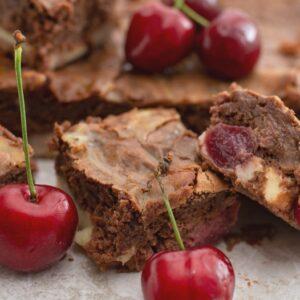 Cherry Cheesecake Chocolate Brownies