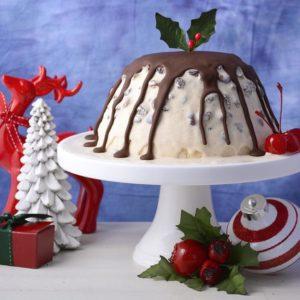 No Bake Christmas Ice Cream Plum Pudding