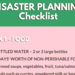 Disaster Planning Checklist ~ Stay At Home Mum
