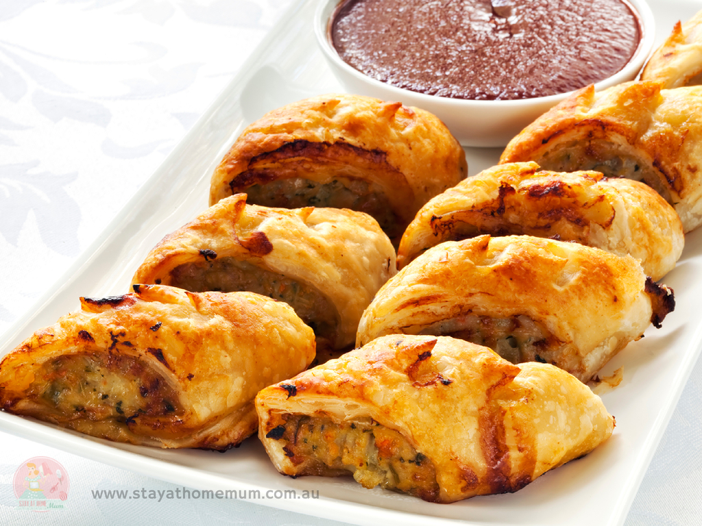 Chicken & Vege Sausage Rolls | Stay at Home Mum