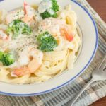 creamy garlic prawn fettuccine   Stay at Home Mum