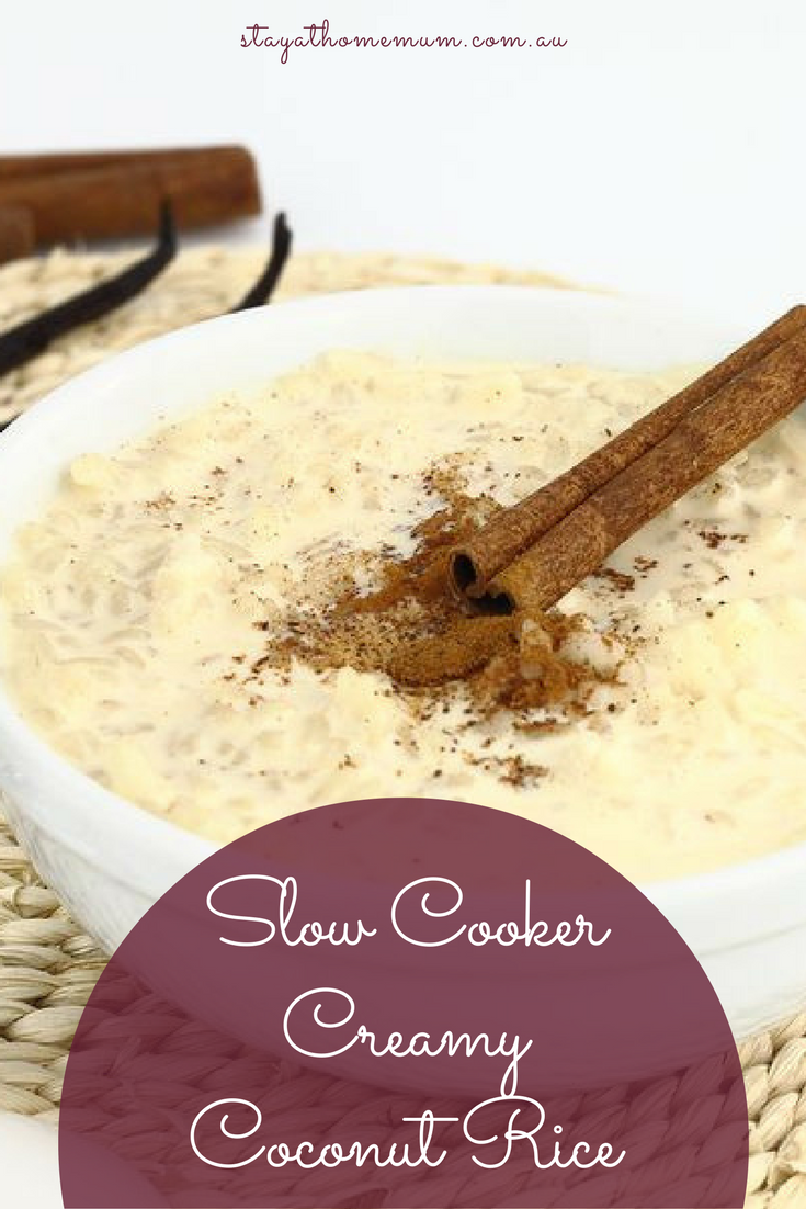 Slow Cooker Creamy Coconut Rice | Stay At Home Mum