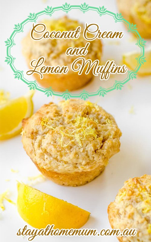 Coconut Cream and Lemon Muffins