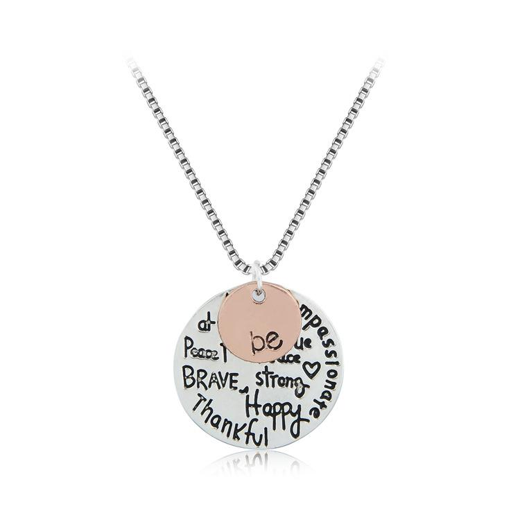 alloy letter necklace two tone be necklace | Stay at Home Mum.com.au