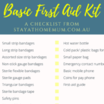 Basic First Aid Kit | Stay At Home Mum