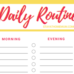 Daily Routine Chart