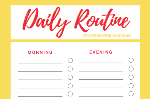 morning routine chart for adults