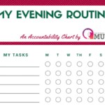 My Evening Routine Chart   Stay At Home Mum
