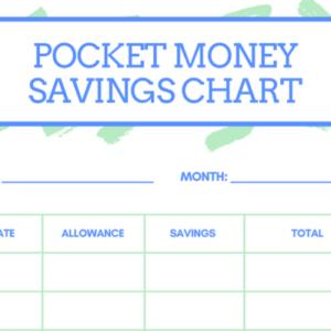 Pocket Money Savings Chart for Kids
