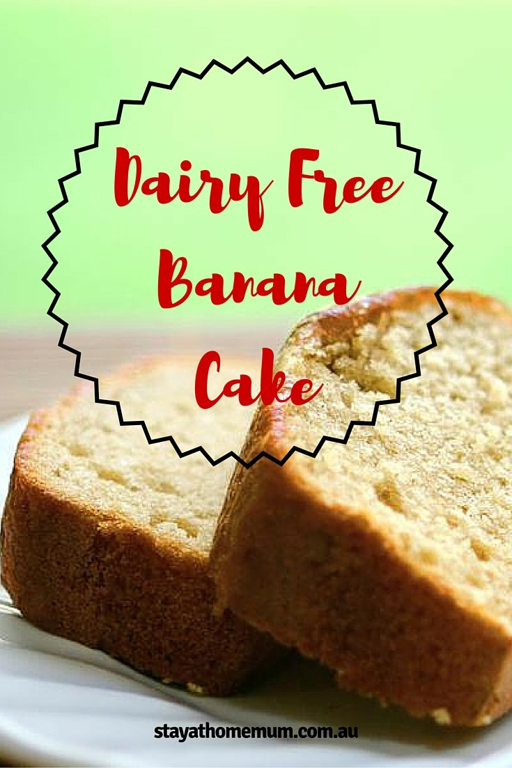 Dairy Free Banana Cake is easy to make, and incredibly delicious. It ...