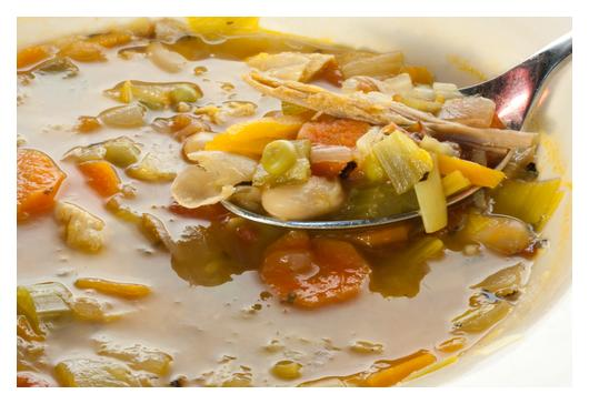 Low Fat Chicken and Barley Soup
