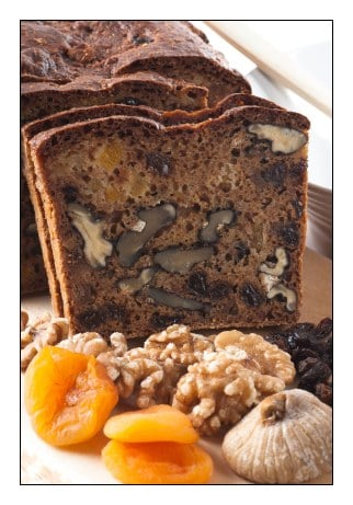 Fig Apricot and Walnut Bread