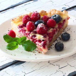 Gluten Free Almond and Raspberry Tart