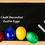 Chalk Decorated Easter Eggs