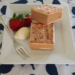 Mocha Cream Cheese Lattice Slice