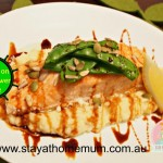 Salmon on Cauliflower Puree   Stay at Home Mum