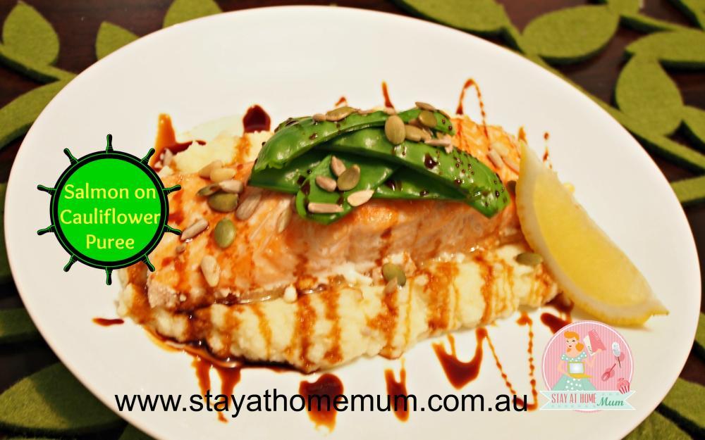 Salmon on Cauliflower Puree