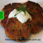 Thai Pumpkin Cous Cous Fritters | Stay at Home Mum