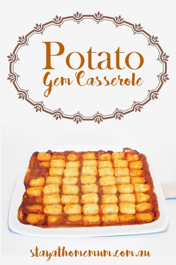 Potato Gem Casserole | Stay At Home Mum