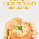 Gherkin and Sundried Tomato Cob Loaf Dip