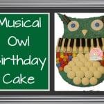 Musical Owl Birthday Cake | Stay at Home Mum