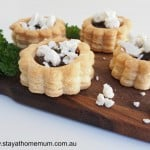 Goat's Cheese & Carmaelised Onion Vol Au Vent | Stay at Home Mum
