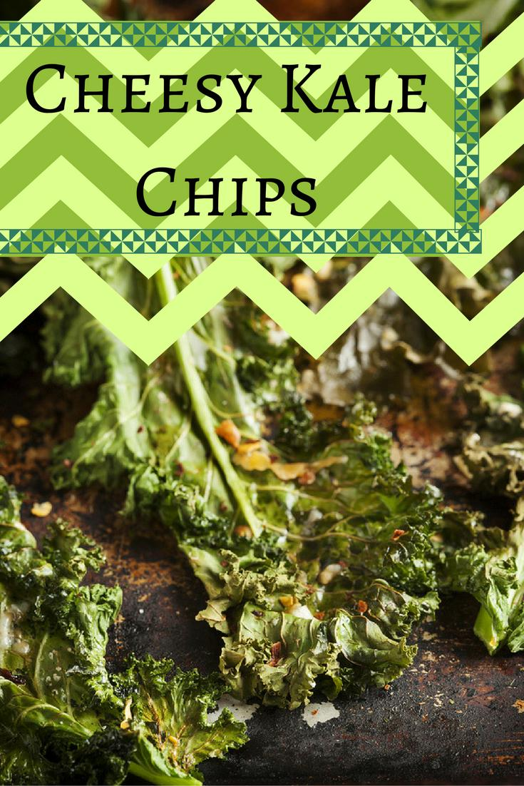 Cheesy Kale Chips - Stay At Home Mum