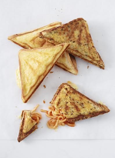 Spaghetti and Cheese Jaffles