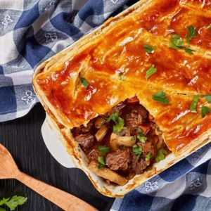 Steak and Bacon Pie
