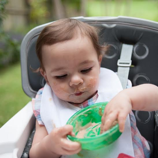 Introducing Solids and Awesome Baby Hacks