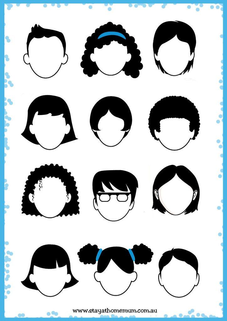 It's just a graphic of Breathtaking Blank Face Printable