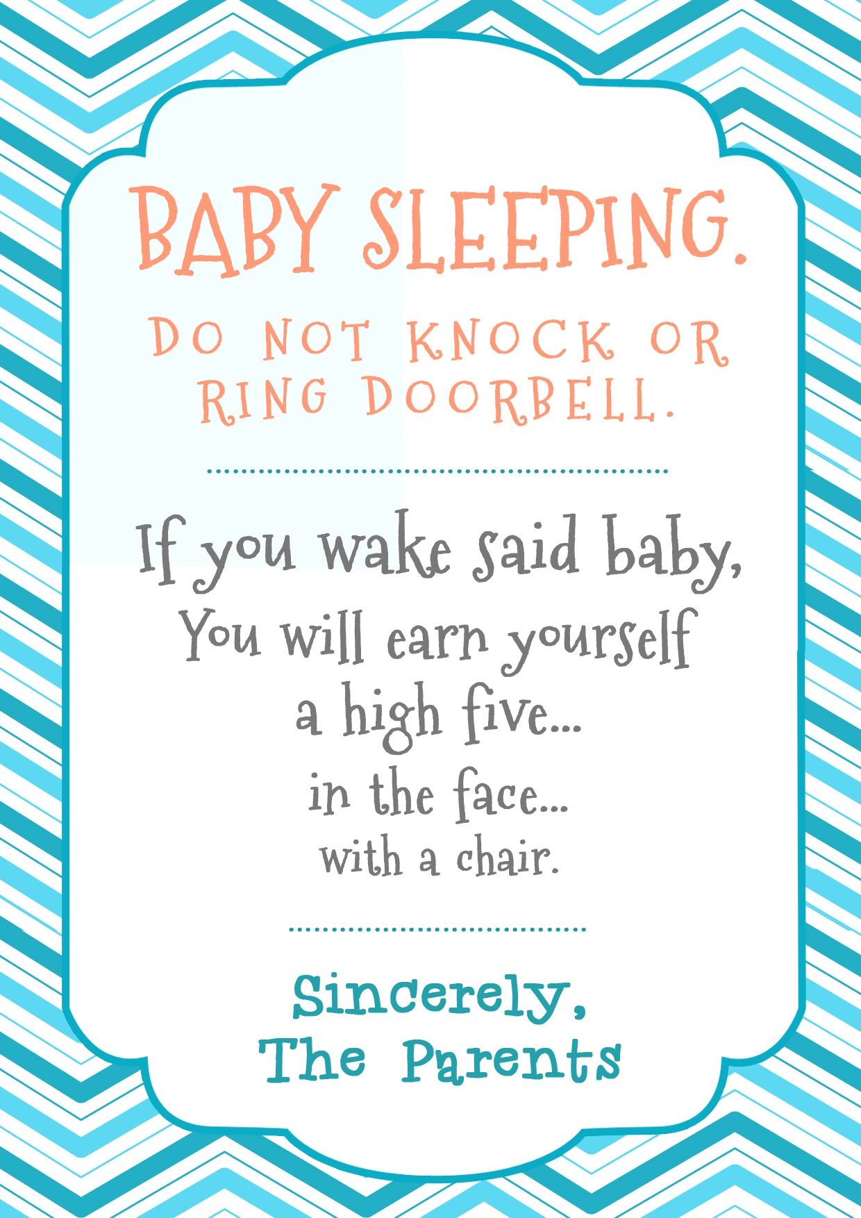 graphic relating to Baby Sleeping Sign Printable called Little one Sleeping - Reside At Dwelling Mum