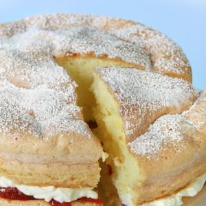 Almost Guilt-Free Sponge Cake