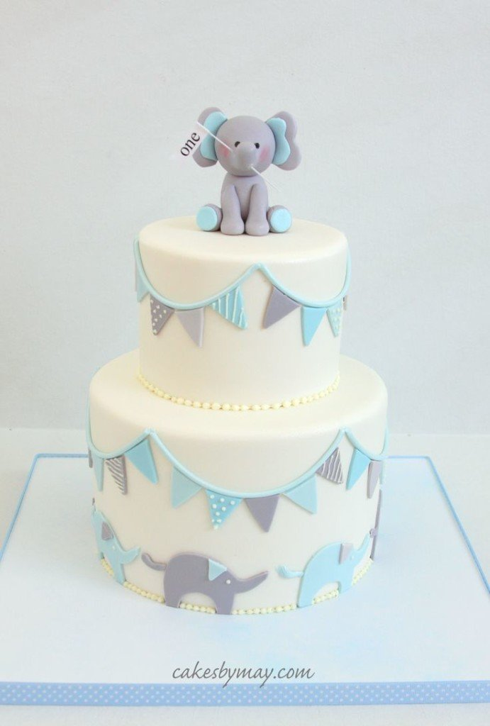 Baby Elephant Cake Decoration : 50 Gorgeous Baby Shower Cakes Stay at Home Mum