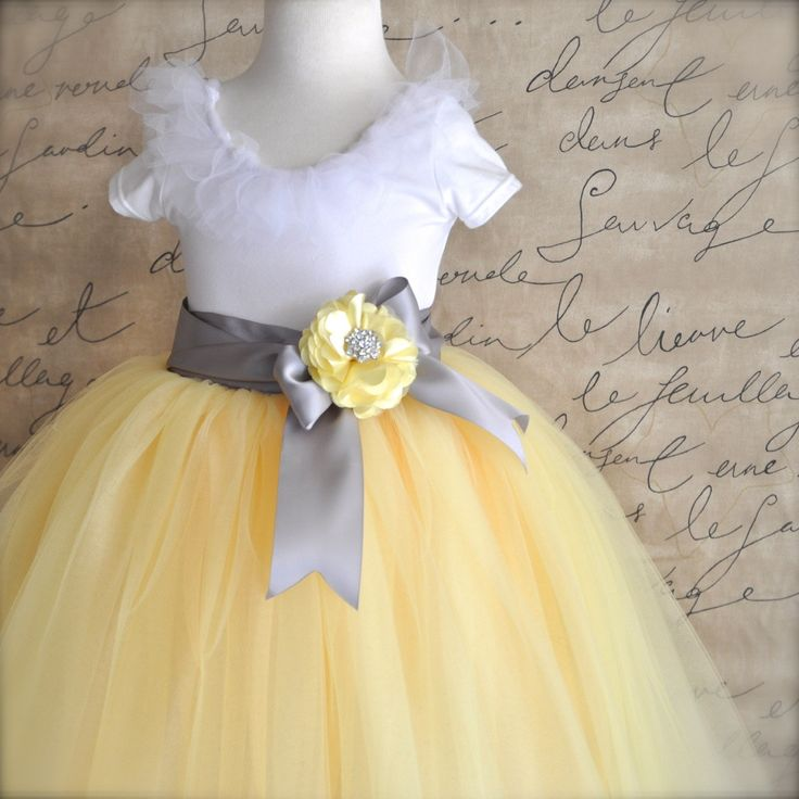 Flower girl dresses yellow and grey kica style dress 2018 flower girl dresses yellow and grey mightylinksfo