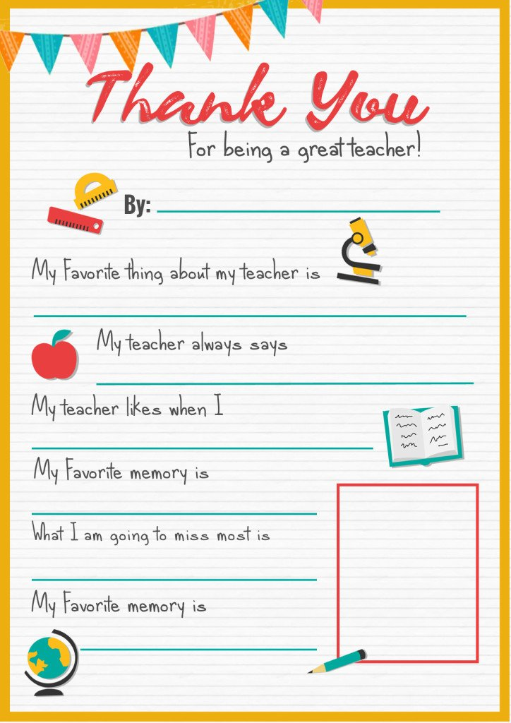 Thank You Teacher - A Free Printable | Stay At Home Mum