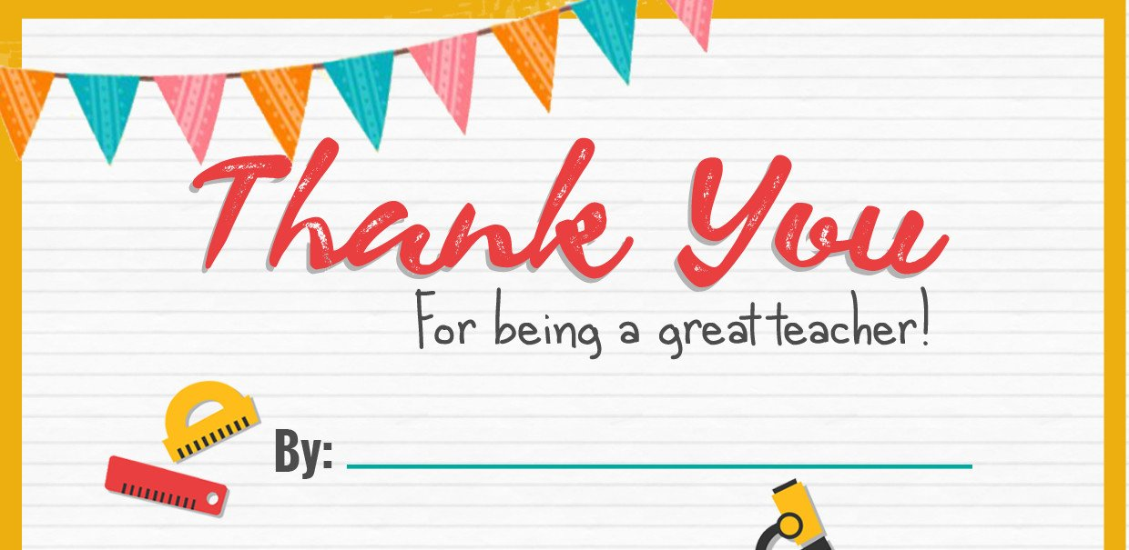 image about Thank You for Being a Great Teacher Printable referred to as Thank Oneself Trainer - A Totally free Printable Reside At House Mum
