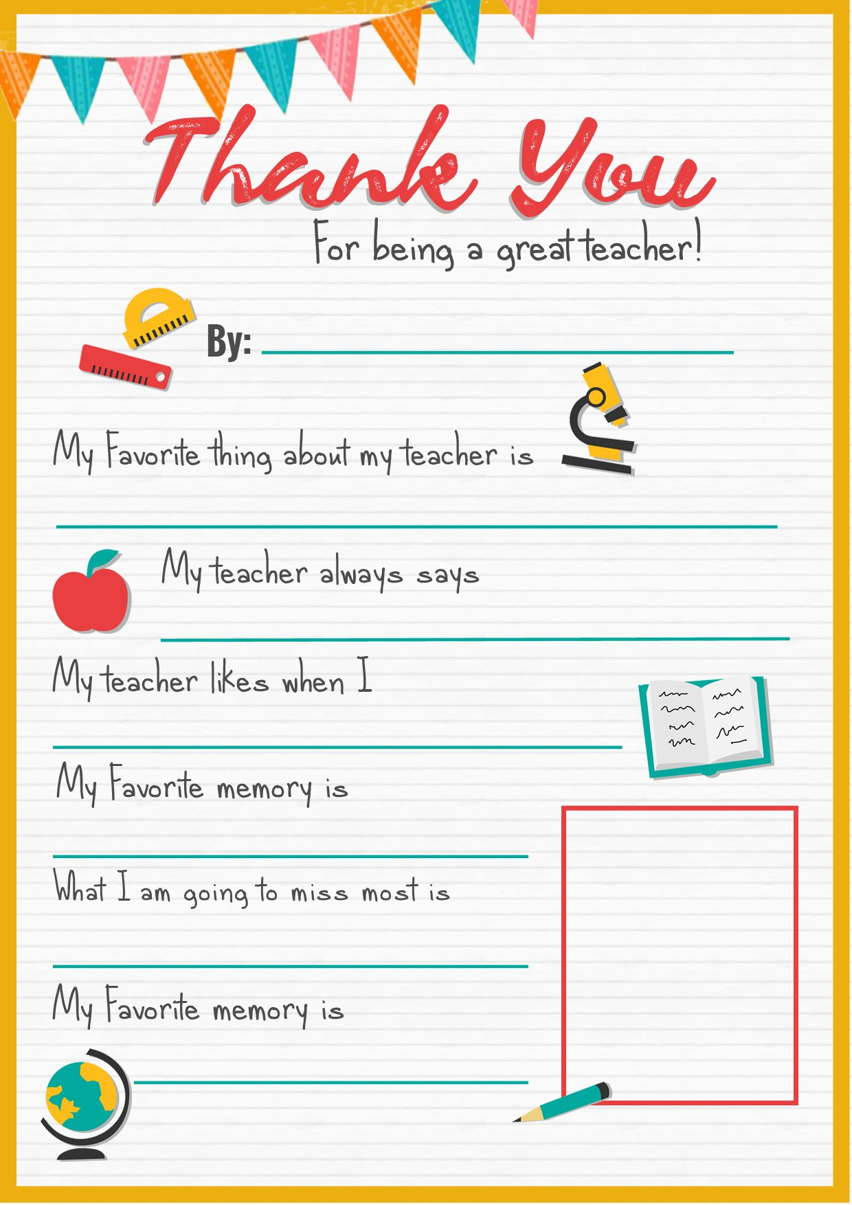 Epic image with regard to printable thank you cards for teachers