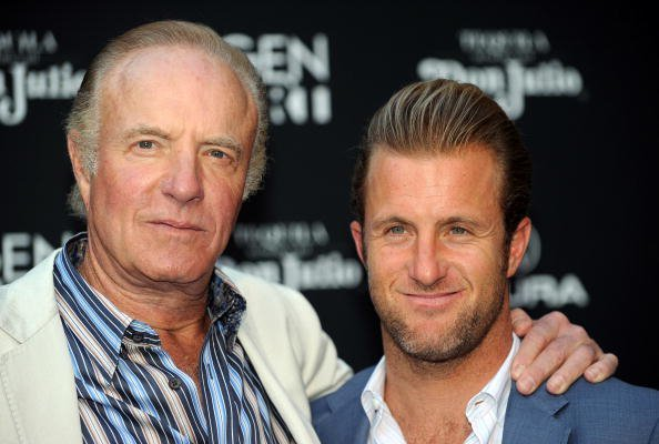 "Actors James Caan and his son Scott Caan (R) arrive at the premiere of ""Mercy"" at the Egyptian Theater in Hollywood, California on May 3, 2010. AFP PHOTO / GABRIEL BOUYS (Photo credit should read GABRIEL BOUYS/AFP/Getty Images)"