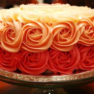 BIY: Swirl Buttercream Rosettes Cake