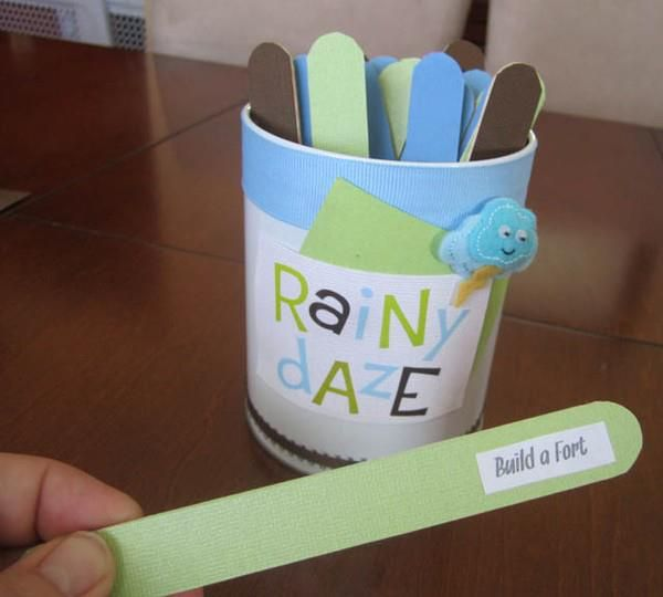 Rainy day activities jar | Stay At Home Mum