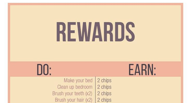 Reward System for Kids - A Free Printable - Stay at Home Mum