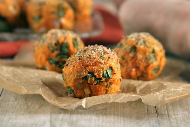 Sweet Potato and Baby Spinach Balls