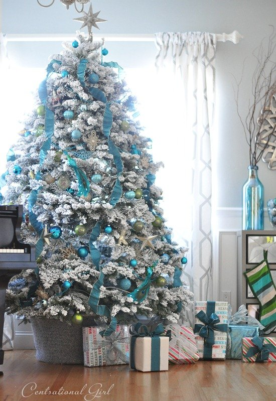 Blue and Silver Christmas Trees | Stay At Home Mum