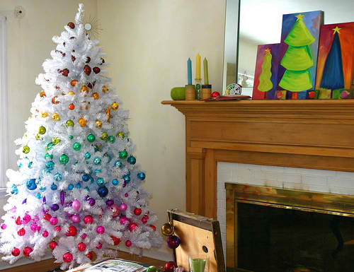 Colourful Christmas Trees | Stay At Home Mum