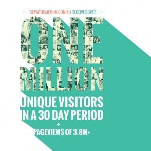 Celebrating 1 Million Unique Visitors in a Month!