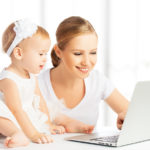 bigstock Mom And Baby With Computer Wor 54802946 | Stay at Home Mum.com.au